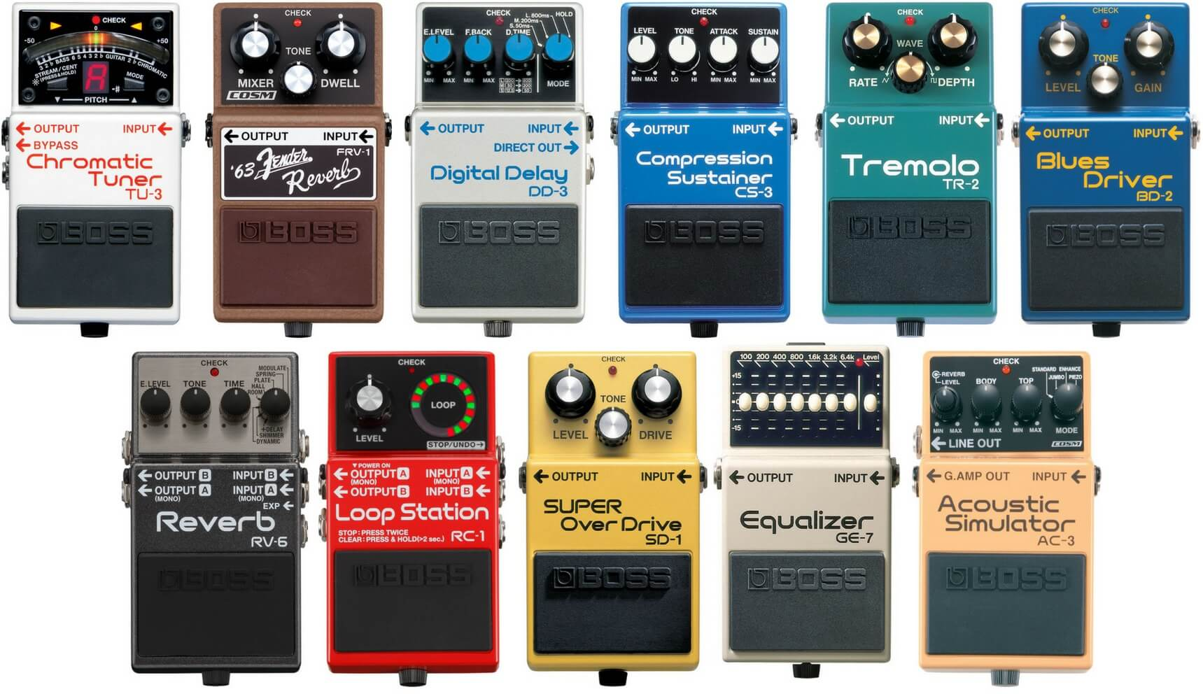 boss pedals 1 guitar pedals on the cheap. Black Bedroom Furniture Sets. Home Design Ideas